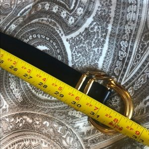 St. John Accessories - ST JOHN vintage navy leather and gold belt
